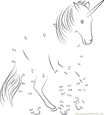 Unicorn Fly Dot To Dot Printable Worksheet Connect The Dots