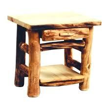 wood log end table rustic 1 drawer log end table country western cabin wood living diy