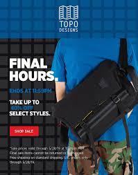 Topo Designs Memorial Day Sale