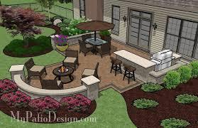 patio for backyard entertaining outdoor fireplaces