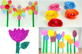 Paper Flower Making Video Arts And Craft With Paper Images Of Paper Flower Making For Kids Art