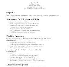 Waitress Resume Examples Impressive Resume Of Waitress Resume Waitress Responsibilities Waiter Resume