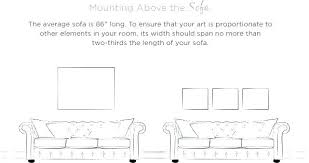 Average Sofa Length Typical Couch Dimensions Some Text With