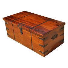 wood storage trunk coffee table large solid wood with metal accents storage trunk coffee table chest