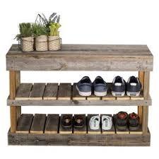 furniture shoe storage. Del Hutson Reclaimed Wood Shoe Rack Furniture Storage