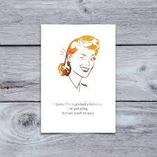 Mean Girls Quote Greeting Card Lesbian Crush On You Friendship Card Birthday Card A1 Funny Lesbian Greeting Card Gay Pride Lgbt