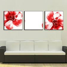 3 pcs set modern wall paintings two red flowers canvas prints art on canvas wall on set of two framed wall art with 3 pcs set modern wall paintings two red flowers canvas prints art on