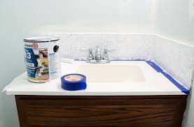 bathroom tile backsplash. Great Backsplash Bathroom From Painted Tile Of