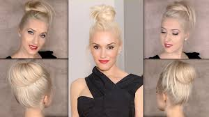 Topknot Hair Style top knot hair tutorial gwen stefani bun hairstyle youtube 2878 by wearticles.com