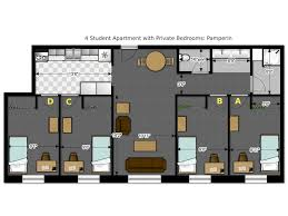 four bedroom house plans. Modern 4 Bedroom Apartment Floor Plans With Pamperin 3294 Housing And Residence Life University Of Wisconsin Four House