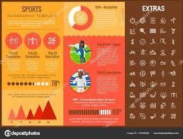 Sports Infographic Template Sports Infographic Template Elements And Icons Stock Vector