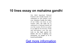 lines essay on mahatma gandhi google docs