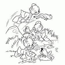 25 Bladeren Donald Duck En Katrien Kleurplaat Mandala Kleurplaat