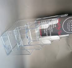 Acrylic Flyer Display Stand 100 Tiers Plastic Acrylic A100 Brochure Literature Display Holder 64