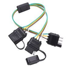 fontic 2 way y splitter adapter flat 4 pin connector trailer wiring trailer wiring harness adapter 1998 dodge ram at Trailer Wiring Harness Adapter