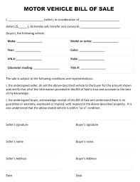 Automobile Bill Of Sale Form Automobile Bill Of Sale Pdf Business Form Letter Template