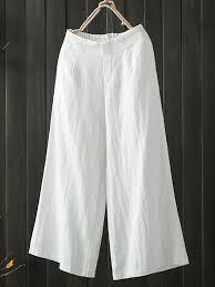 <b>High Elastic Waist Pocket</b> Cotton Pants - Banggood Mobile