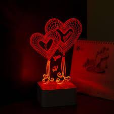 Night Lamps For Bedroom Aliexpresscom Buy Heart 3d Night Lamp Wedding Night Lighting