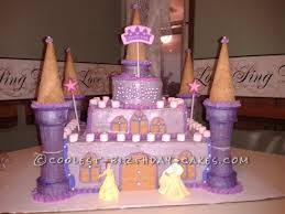 Pretty Purple Princess Castle Cake