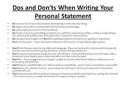 cv personal statements
