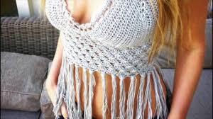 Crochet Crop Top Pattern Best Festival Boho Crochet Fringe Crop Top YouTube