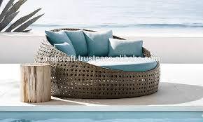 wicker round rattan pool chaise lounge sun lounger wicker round daybed pool chaise rattan