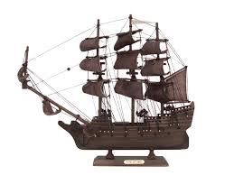wooden flying dutchman model pirate ship 14