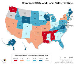 What Is The Combined State And Local Sales Tax Rate In Each
