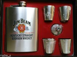 jim beam hip flask gift set