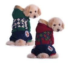 plaid pet dog clothes for small dogs