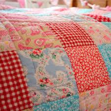 Girls Matilda Pink & Blue Patchwork Quilt / Throw – Fun Rooms For Kids & Matilda Patchwork Quilt and Quilted Sham Set - Twin Adamdwight.com