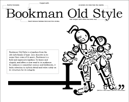 fun with bookman old style