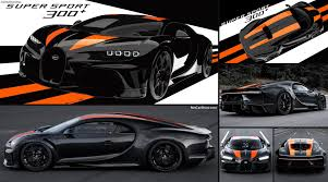 The interior is dominated by black carbon, leather. Bugatti Chiron Super Sport 300 2021 Pictures Information Specs