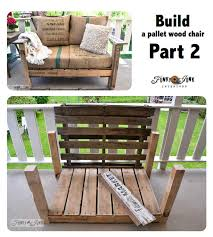 furniture out of wooden pallets. build a pallet wood chair part 2 on funkyjunkinteriorsnet furniture out of wooden pallets t