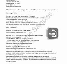 Laboratory Technician Cover Letter Entry Level Medical Lab For New