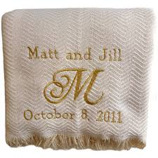 Custom Embroidered Throw Blankets