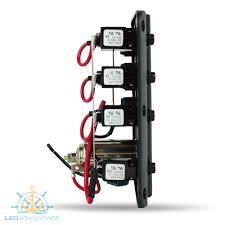 12v wave 3 gang led cigarette power socket low profile switch 12v wave 3 gang led cigarette power socket low profile switch panel