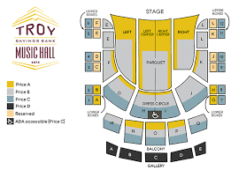 Music Hall Center Detroit Seating Chart Shows Tickets Troy Savings Bank Music Hall
