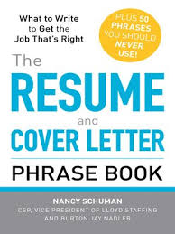 the resume and cover letter phrase book cover letter phrases to use
