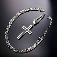 cross necklace pendant jewelry whole 316l snless steel gold plated chain cross necklace men