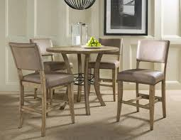 charleston counter height round wood dining set with parson stools d