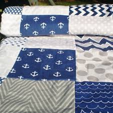 Shop Nautical Crib Quilts on Wanelo & Nautical Baby quilt,navy,grey,Baby boy bedding,baby girl quilt, Adamdwight.com