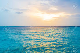 Beautiful Tropical Maldives Island In The Ocean Background