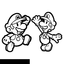 Super Mario Bros Characters Coloring Pages Az Coloriages Gif Dans