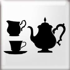 vintage tea cup silhouette. Simple Cup Teapot Teacup And Jug Stencil Huge Range Of Beautiful Stencils For Home  Decor At The Stencil Studio To Vintage Tea Cup Silhouette I