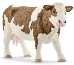 Schleich <b>Фигурка</b> Симментальская корова 13801 — купить в ...