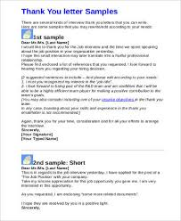 9+ Sample Job Interview Thank You Letters | Sample Templates