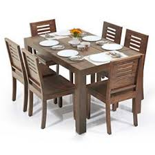 wooden dining room furniture. Arabia - Capra 6 Seater Dining Table Set (Teak Finish) By Urban Ladder Wooden Room Furniture N