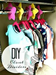 diy closet dividers for baby clothes closet dividers for back to school