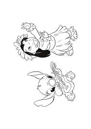 Lilo En Stitch Haloa Lilo En Stitch Kleurplaten Kleurplaatcom